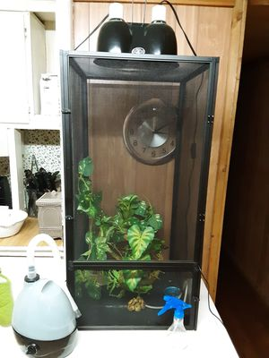 Chameleon starter cage everything included for Sale in Florence, MS