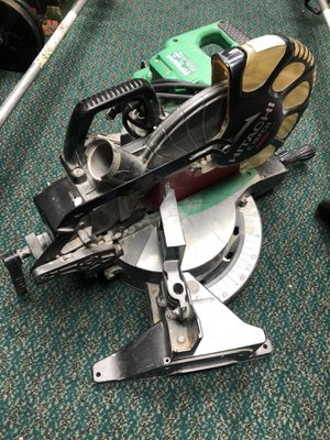 "MiterBox Saw, Tools-Power Hitatchi 12"" miter Saw No Bag .. Negotiable for Sale in Baltimore, MD"
