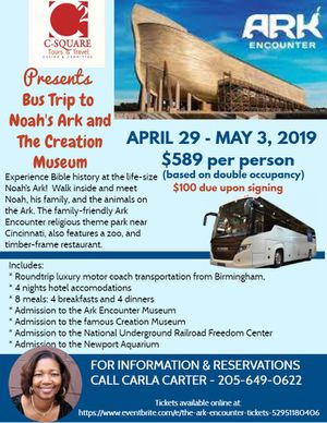 Bus Trip-Ark Encounter for Sale in Pleasant Grove, AL