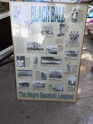 Black baseball leagues poster/ picture for Sale in Philadelphia, PA