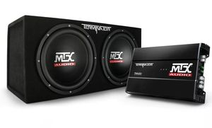 """MTX TNP212D2, Dual 12"""" Sealed Loaded Subwoofer Enclosure and Mono Amplifier for Sale in Skokie, IL"""