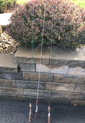 3 oL Steel fishing rods for Sale in Monroeville, PA