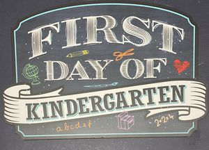 First Day of Kindergarten Sign for Sale in Enfield, CT