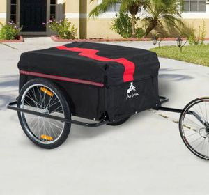 Aosom Steel Frame Bicycle Bike Cargo Trailer Cart Carrier for Shoping for Sale in San Diego, CA