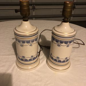 """Vintage Table Lamps Two 12"""" Tall 4"""" Wide for Sale in Trinity, FL"""