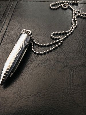 Unisex Silver Bullet Fire Starter Pendant/ Key Chain NEW- Only a few available for Sale in Hialeah, FL