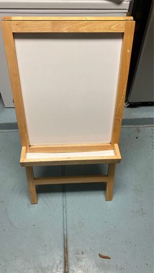Double sided wooden easel w/dry erase and chalkboard sides for Sale in Mesa, AZ