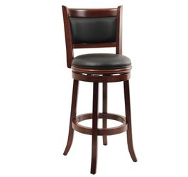 Boraam Augusta 29 in. Cherry Swivel Cushioned Bar Stool for Sale in Garland,  TX