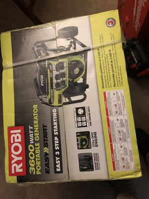 RYOBI 3600 watt Generator for Sale in Hyattsville, MD
