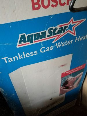 Tank less water heater natural gas. New for Sale in Manteca, CA