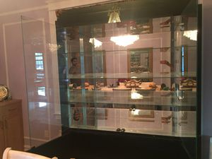 Black Glass Mirrored China Display Case for Sale in The Bronx, NY