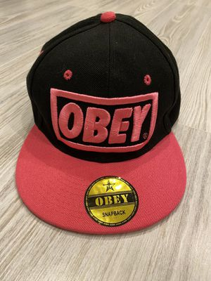 OBEY black/pink snapback cap hat for Sale in Silver Spring, MD