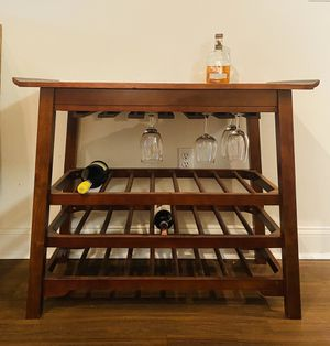 Wine Rack/Bar Table - Real Wood for Sale in Washington, DC
