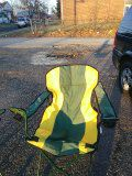 Indoor outdoor chairs cup holders Folds for EZ Storage great for Gameday man cave for personal