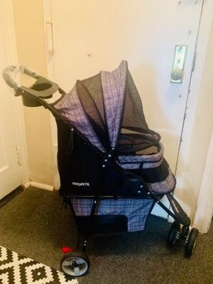 Genpet dog or cat stroller black with grey for Sale in Brooklyn, NY