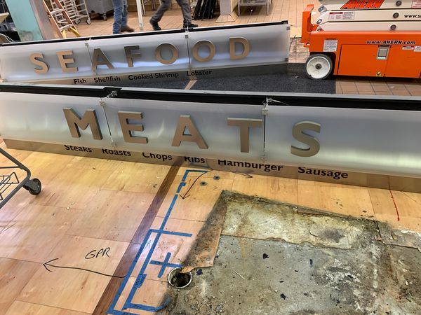 Meat and Seafood sign perfect for restaurant or business