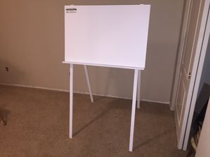 """60"""" tall Easel with 36"""" x 24"""" dry erase board. for Sale in Murrieta, CA"""