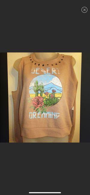 Gypsy Heart M Cactus dësêrt Joshua tree California sweatshirt Sweater Cold Shoulder Studded Desert Dream Graphic Joshua tree for Sale in San Diego, CA
