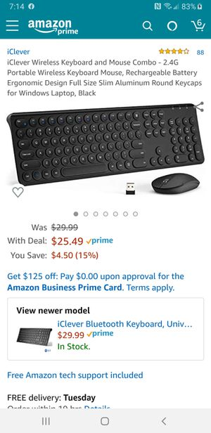 iclever wireless keyboard and mouse for Sale in Richmond, KY