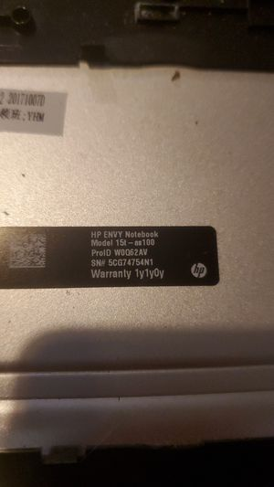 HP ENVY NOTEBOOK 15T ( NO SCREEN OR BATTERY) for Sale in Port St. Lucie, FL
