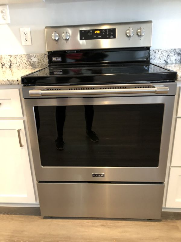 Brand new Maytag model MER6600FZ electric stove