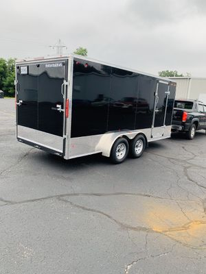 2020 model 7x16 double axle enclosed trailer for Sale in Calumet City, IL