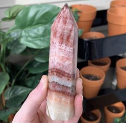 Pink Banded Calcite Tower for Sale in Lynnwood,  WA