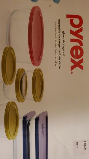 Pyrex with lids never open retail $60 for Sale in Miami, FL
