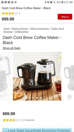 Dash Rapid Cold Brew Coffee maker $70 cash or $100 barter- Brand New in box for Sale in Los Angeles, CA