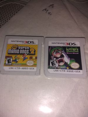 Mario 3 D's games for Sale in San Marcos, CA