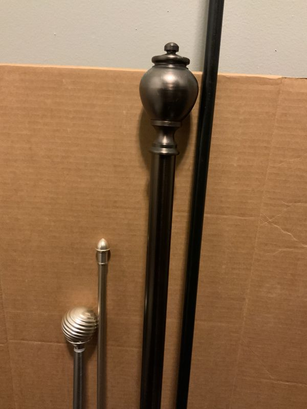 Curtain Rods, used, no brackets -various sizes and prices - read description