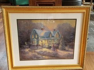 Thomas Kinkade - Blessings of Christmas Framed Print for Sale in Ridgway, CO