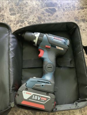 Bosch 18V Brushless Hammer Drill with 4.0ah battery with fuel gauge for Sale in Lutz, FL