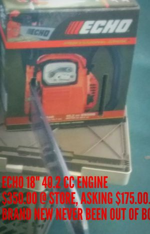 "ECHO 18"" CHAINSAW, GAS RAN 40.2 CC ENGINE. IN STORE PRICED FOR $350 ....IM ASKING $175.00 FOR MINE. NEVER USED BRAND NEW STILL BOXED UP for Sale in Austin, TX"