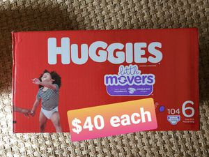 Huggies little movers size 6 diapers for Sale in Santa Ana, CA