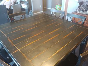 Rustic Dining Table and Chairs for Sale in Spanaway, WA