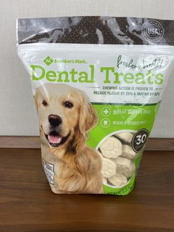 Brand New Bag Of Members Mark Dental Treats For Dogs! Gluten Free - Brand New Bag Of 30 Treats for Sale in Wilsonville,  OR