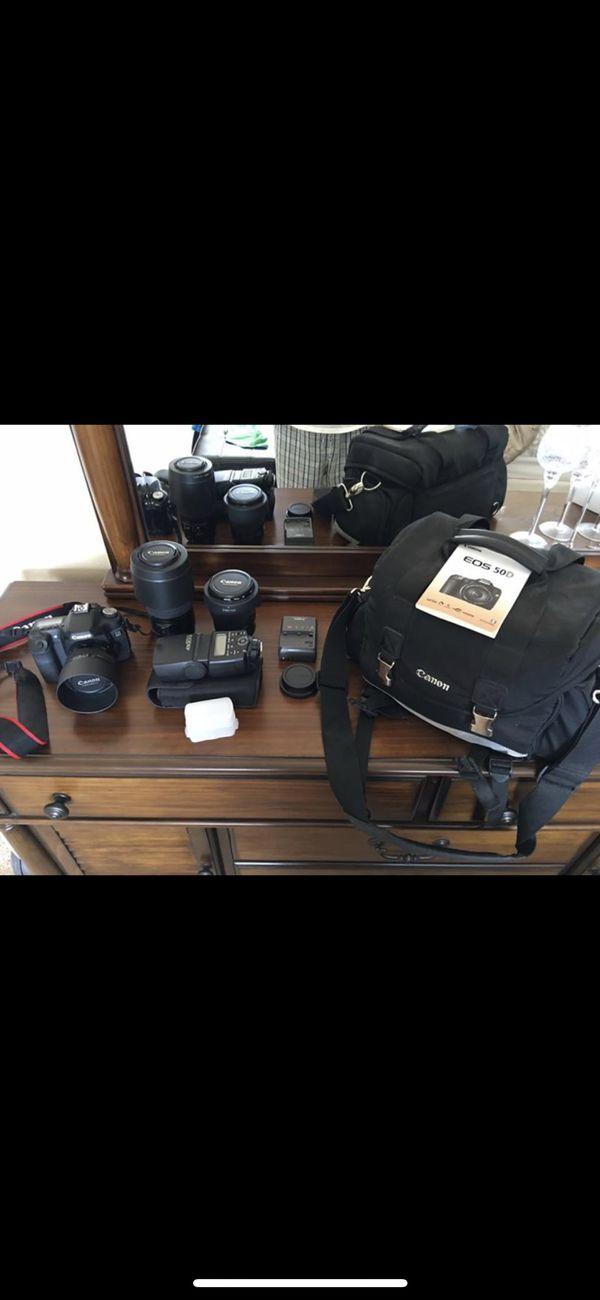 Profesional Canon 50D with lenses
