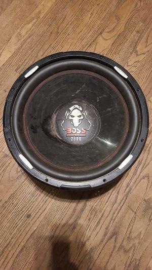 15 inch boss sub 2500 watts for Sale in Sacramento, CA