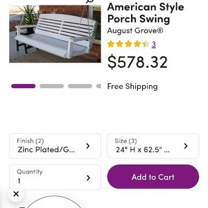 American Style Porch Swing for Sale in Los Angeles, CA