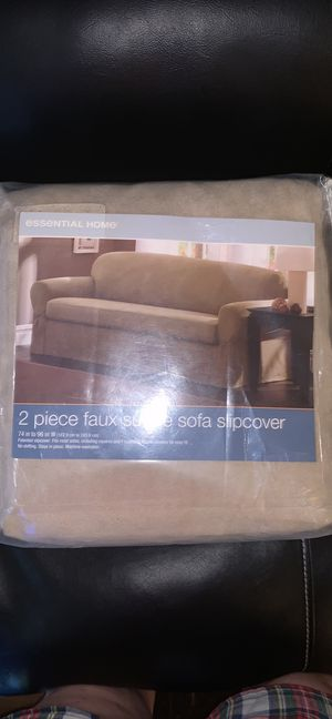 Faux suede sofa cover for Sale in Buffalo, NY