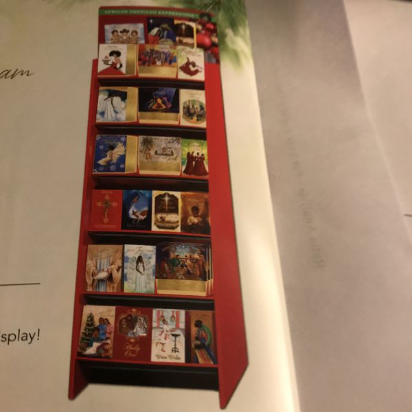 Black American Christmas & Kwanza Cards with Display Case