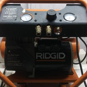 RIGID TWIN STACK AIR COMPRESSOR for Sale in Brookhaven, PA