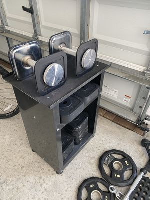 Iron Master 120 LB Set with Stand for Sale in Seminole, FL