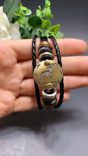 12 Constellations Multilayer Leather Bracelet, Capricorn for Sale in Los Angeles, CA