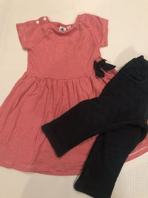 Red & Navy Dress and pants -Petit Bateau- (size 18 m) for Sale in Houston, TX
