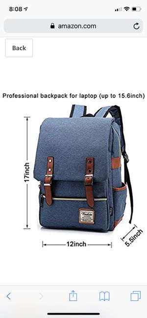 Unisex Professional Slim Business Laptop Backpack, Fashion Casual Durable Travel Rucksack Daypack (Waterproof Dustproof) with Tear Resistant Design for Sale in Kansas City, MO