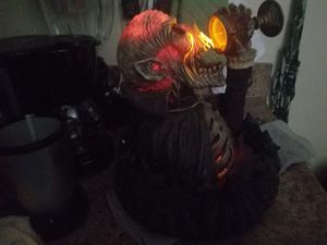 luminous skull head with water fountain for Sale in Norfolk, VA
