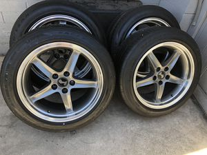 """18"""" Staggered Mustang Cobra rims 5 lug for Sale in Phoenix, AZ"""