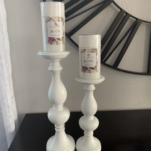 Set Of Two New Candle Holder With Candle for Sale in Vancouver, WA